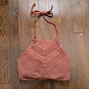 Halter Style Swimsuit Top Medium in Coral!